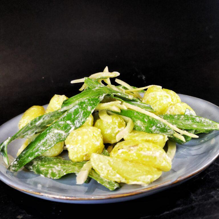 Aardappel salade met venkel en lamsoor