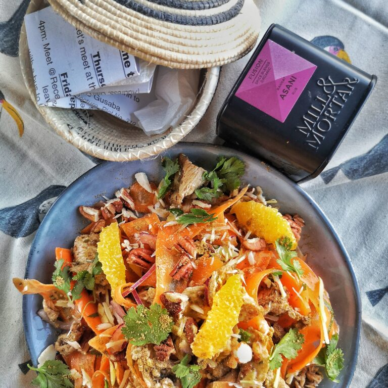 Noord Afrikaans geinspireerde wortel salade