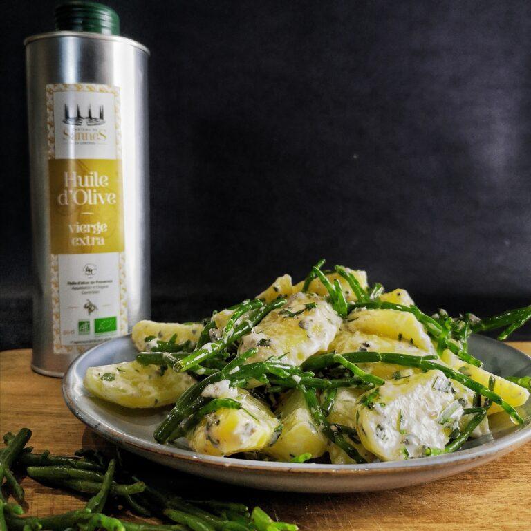 Aardappel / zeekraal salade